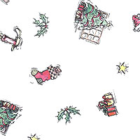 Christmas Icons Cello Roll 24 x 50