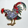 crowed rooster pin