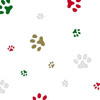Holiday Colored Paws 5 x 11 inch Cellophane Bags