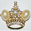 Pin Crown Large Pearls
