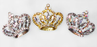 Crown Pin - Large Size with Rhinestones