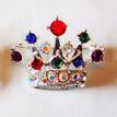 Crown Pin - Multi Color Rhinestones