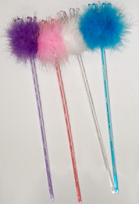 Fluffy Crown Wands