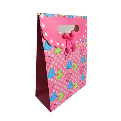 cute hearts gift box bag