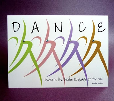 Dance is the Hidden Language of the Soul Card