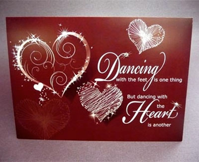 Dancing with the Heart Card