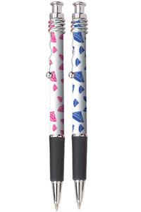 Pink or Blue Diamonds Design Ink pen