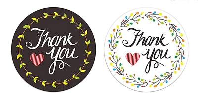 Thank you stickers Twin Pack