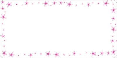 Pink Double Stars Mailing Labels 2x4 inch