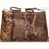 Earth Tone Faux Reptile Skin Purse