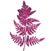 Glitter Leather Fern Leaf Pick Fuchsia