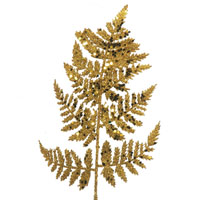 Glitter Leather Fern Leaf Pick Gold