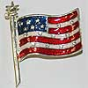 Pin American Flag with Star