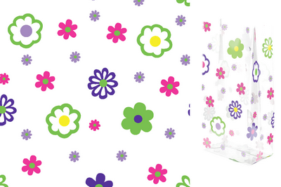 A Flower Groove 5 x 11 inch Cellophane Bags