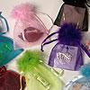 5 x 7 Fluffy Top Chiffon Organza Bags Dozen Pack