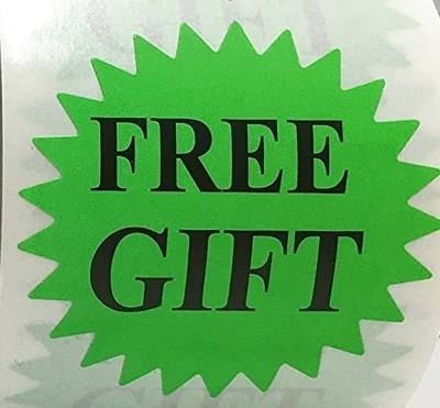 stickers Free Gift Green Burst