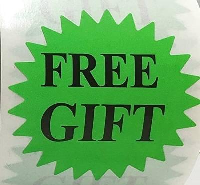 stickers Free Gift Green Burst