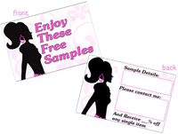 Enjoy These Samples Cards - credit card size