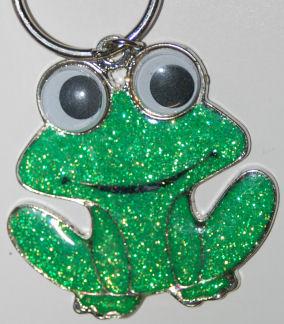 Glitter Frog Key Chain