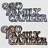 Pin God Family Career Gold or Silver