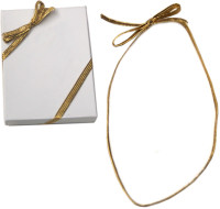 Gold Stretch Package Bow Ribbon