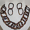 Necklace and Earrings Set Cha Cha Chocolate Swarovski Crystal