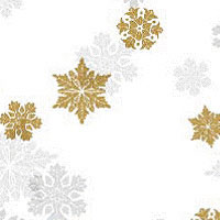 Gold Shimmer Snowflakes