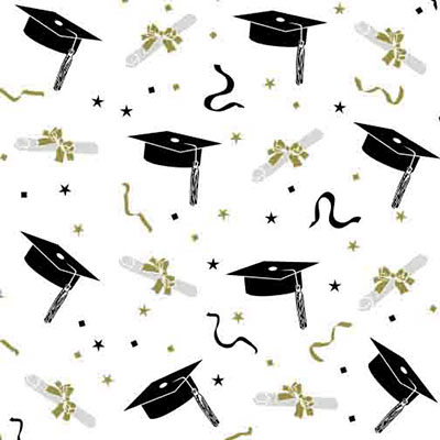 Graduation 5 x 11 inch Cellophane Bags