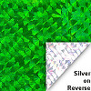 Green Holographic Mylar Cellophane Sheets
