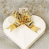 Cream Paper Heart Boxes (12 per pack)