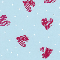 Heart Stamps Cellophane Roll 30 x 100