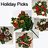 Holiday Floral Foliage Holly and Berries