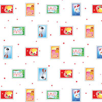 Holiday Stamps 4 x 9 inch Cellophane Bags