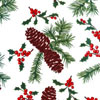 Holly and Pine Cones Cellophane Roll 30 x 100
