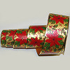 Holly Poly Metallic Ribbon 2 inch
