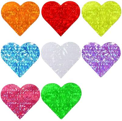Holographic Hearts Stickers