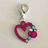 Hot Pink Heart Charm