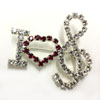 I Love Music Rhinestone Pin