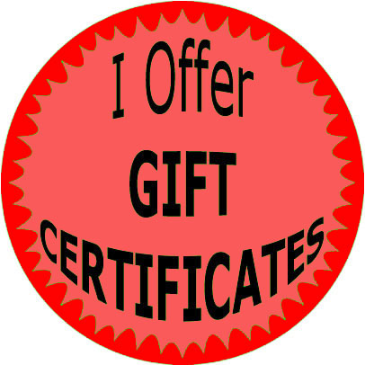 63 Stickers I Offer Gift Certificates