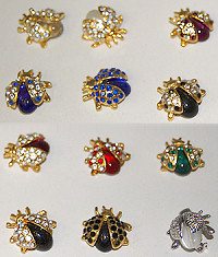 Pin Jeweled Bees by the dozen