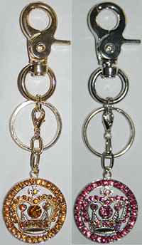 Crown Charm Keychain