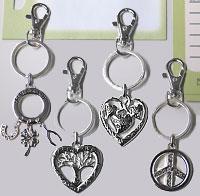 silver charm keychains