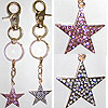 Pink or Clear Star Keychain Charm