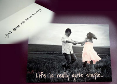 Life is Really Quite Simple Card