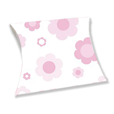 Light Pink Flowers Pillow Boxes 5x7