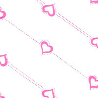 Pink Hollow Hearts Cello Roll 24 x 50
