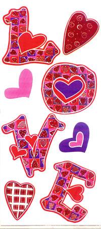LOVE 5 x 11 Cellophane Bags
