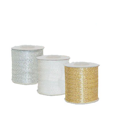 Mesh Ribbon w Metallic Threads 1/4 inch