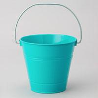 Metal Pail Bucket Aqua