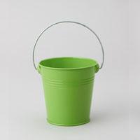 Metal Pail Bucket Apple Green